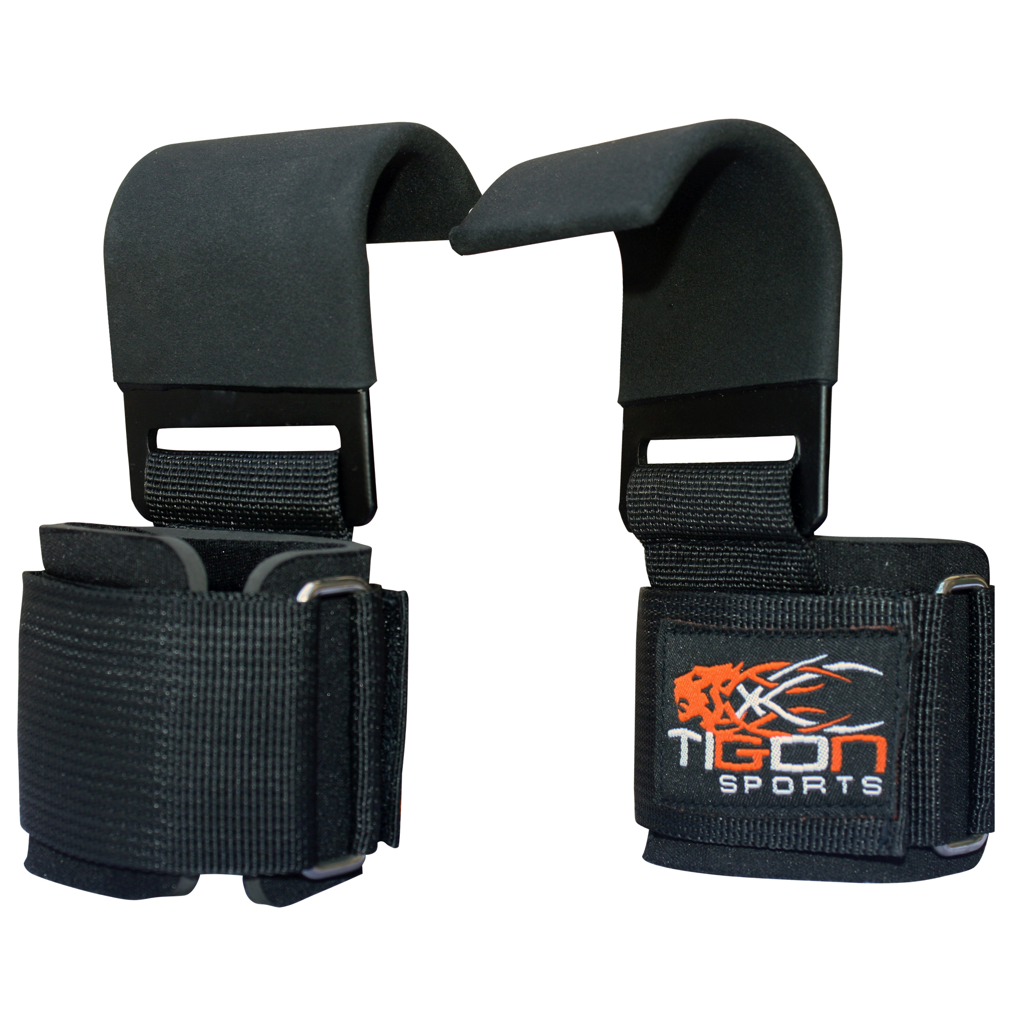1 Pair Weight Lifting Hand Bar Grips Straps Wrist Support: Power Weight Lifting Training Gym Straps Hook Bar Wrist
